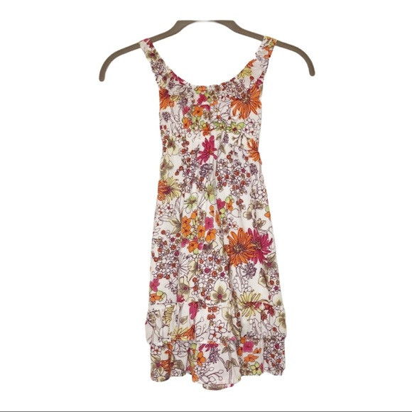 Old Navy White Dress with Floral Pattern Girls' S